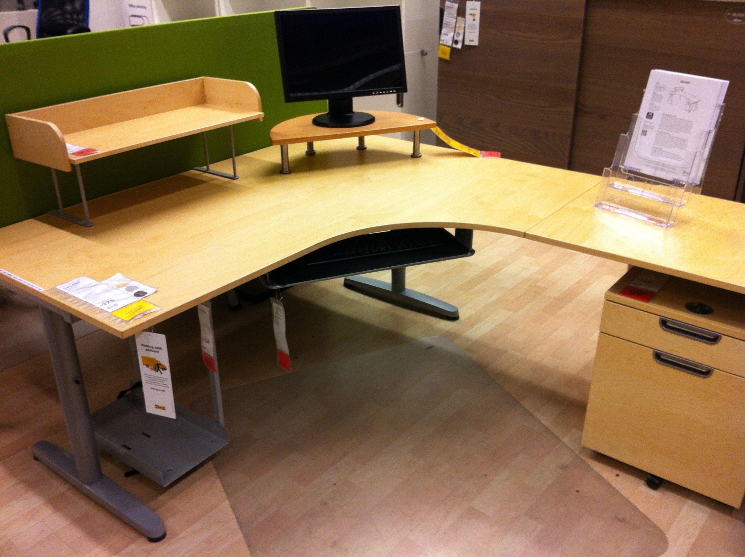Ikea Galant With Return L Shaped Office Desk U Shaped Office