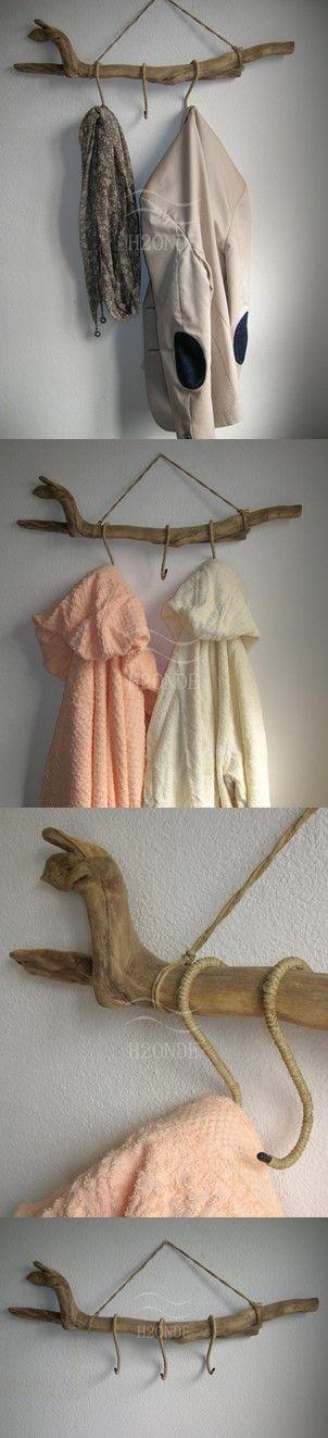 Appendiabiti Da Porta Legno.Driftwood Towel Coat Rack Wall Mount Hanger Modern Scarf Hanging