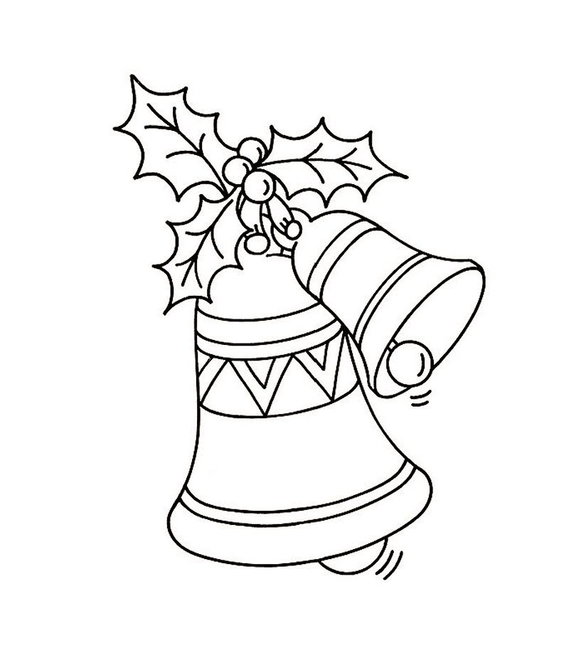 free printable bell coloring pages for kids holiday coloring pages