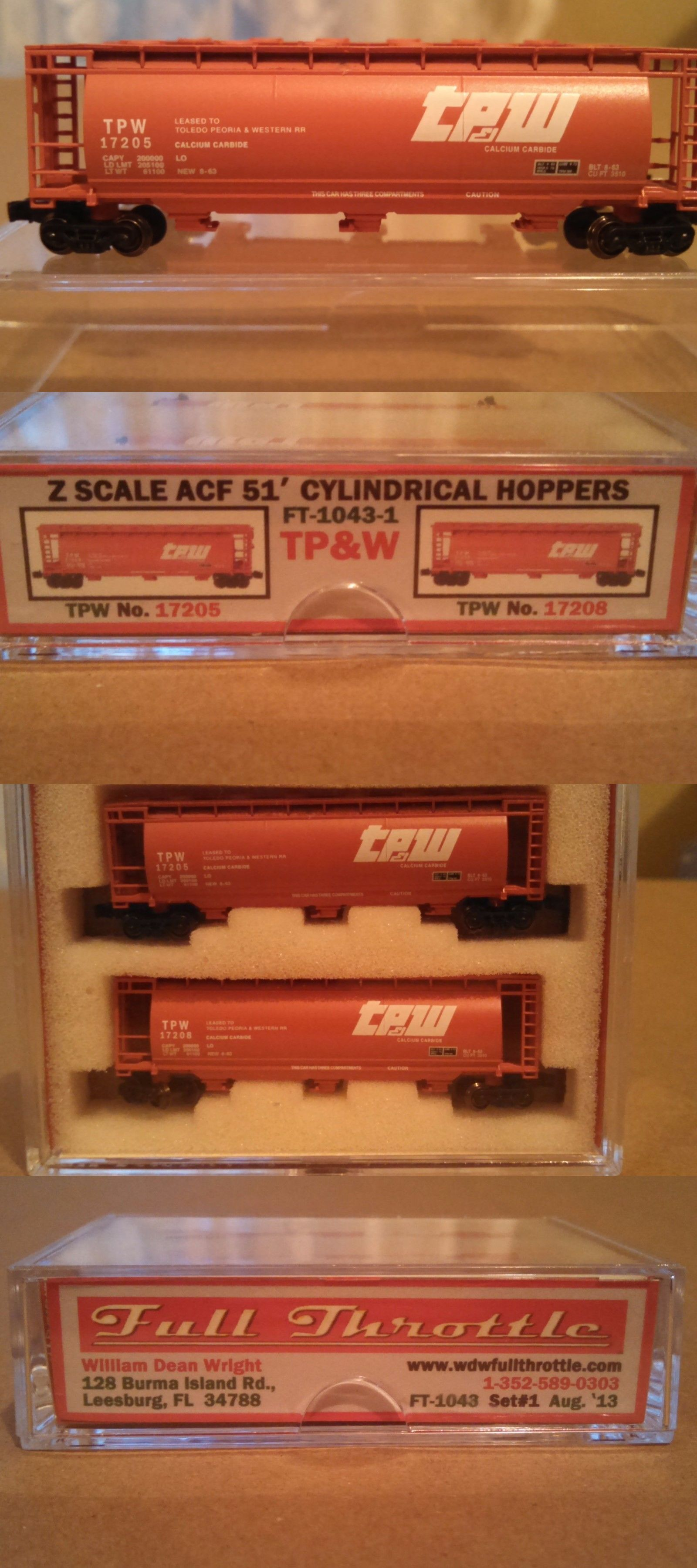 Freight Cars Full Throttle Z Scale F 2043 1 Tpw Acf 51 Ft