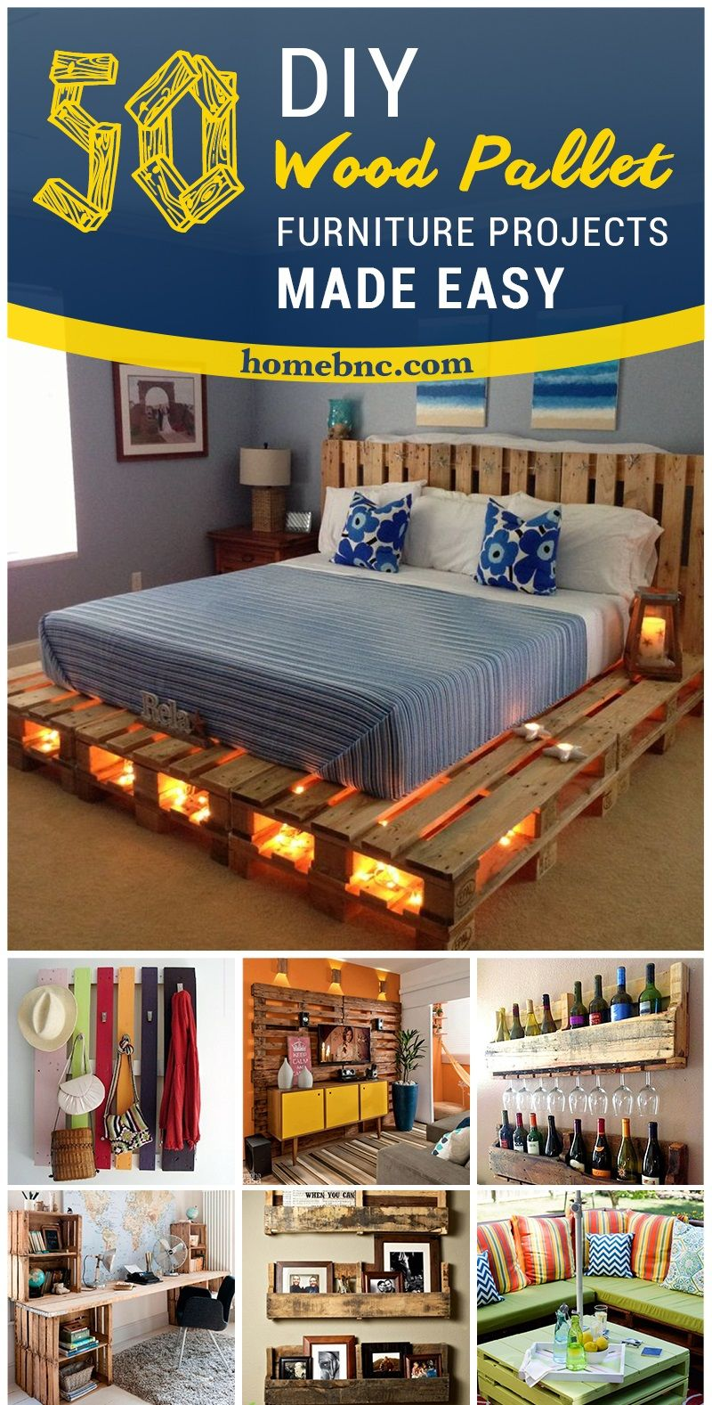 here are some of the absolute best pallet furniture ideas for home