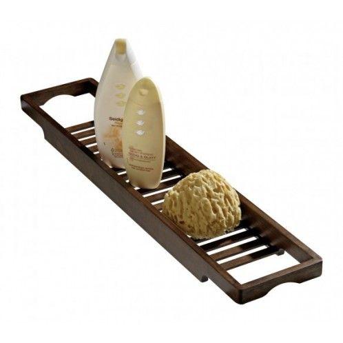 Wenko Le pont de baignoire en bois foncé vous permet de disposer