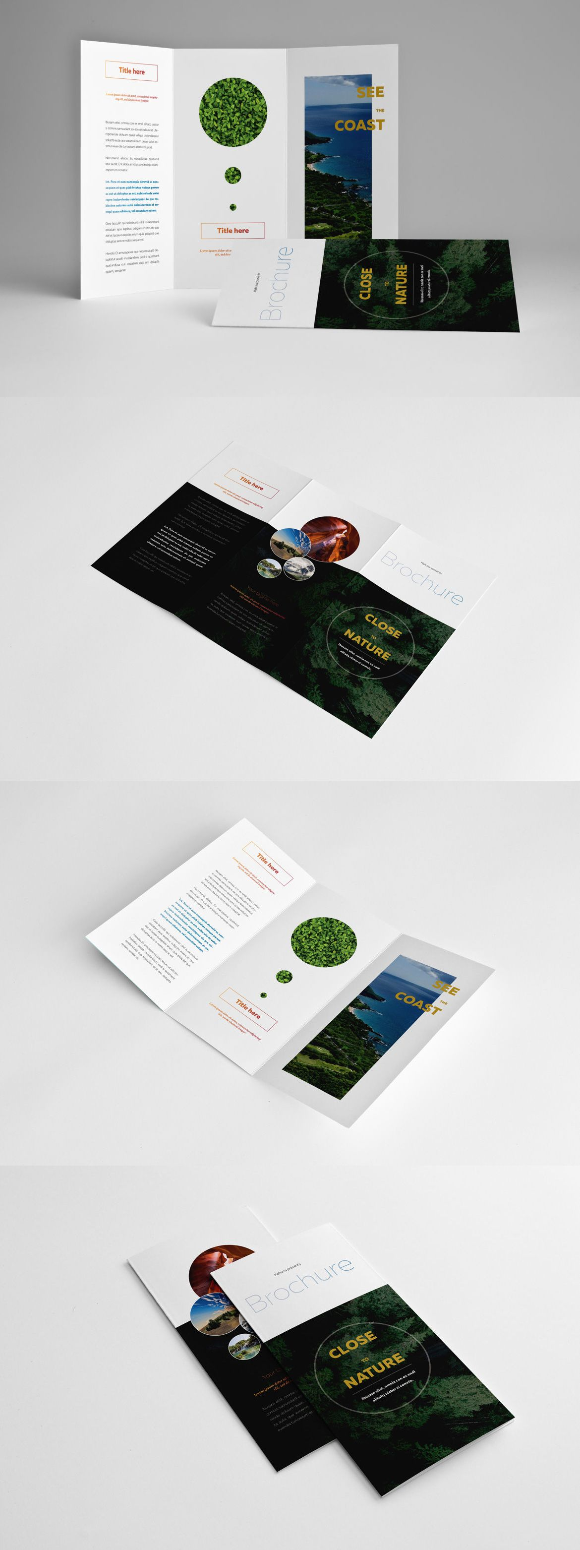 Natural Trifold Brochure Template InDesign INDD