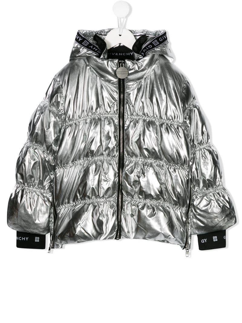 Givenchy Kids Metallic Puffer Jacket Farfetch Jackets Puffer Jackets Puffer [ 1067 x 800 Pixel ]