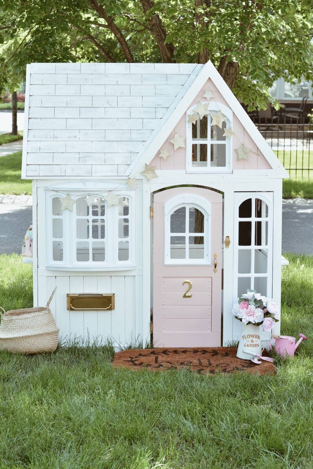 Costco Playhouse Hack How To Transform An Outdoor Cedar Playhouse