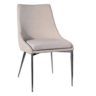 Lot de 2 chaises Honey Bear 50 x 61 5 x 88 cm Cr¨me et argenté