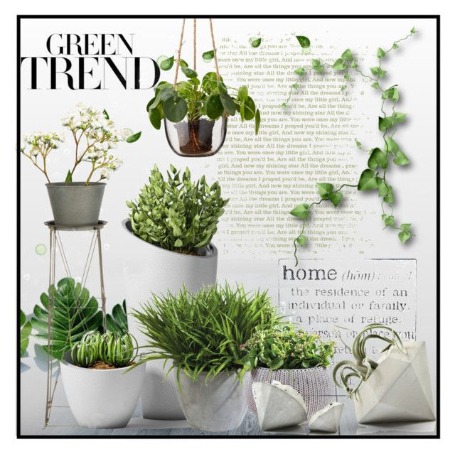 """Home Green Trend ..."" by lutgard-m ❤ liked on Polyvore featuring interior, interiors, interior design, home, home decor, interior decorating, WALL, Aidan Gray and Ethan Allen"
