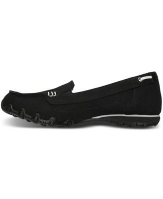 Skechers Women's Relaxed Fit: Bikers - Motoring Boat Loafer Casual Sneakers from Finish Line - Black 9