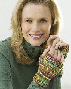 Best Free Crochet » Free Crochet Pattern Easy Crochet Wristers From RedHeart.com