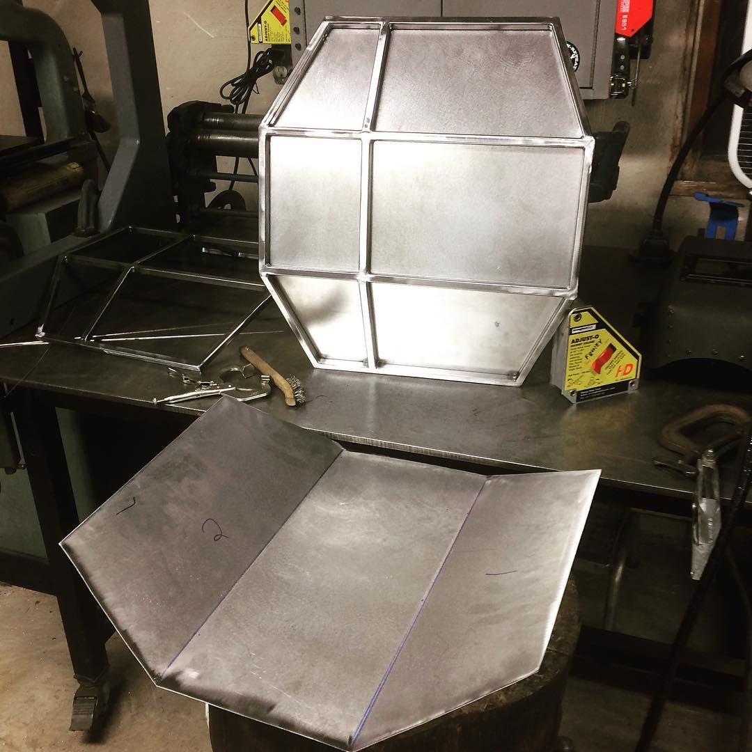forming some sheet metal for the tie fighter wings its the tin