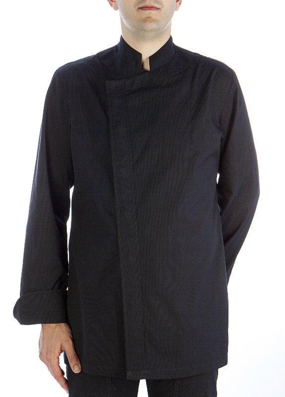 Chaqueta La Riera negra  #chaquetascocinero #cocina #csty #uniformeshosteleria