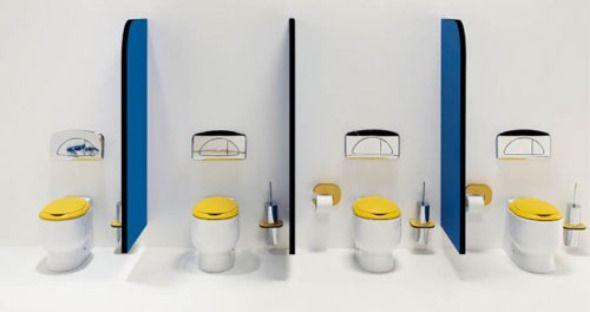 Cute And Adorable Toilet Area Design Idea Of