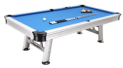 Playcraft Extera Outdoor Pool Table With Playing Equipment Silver