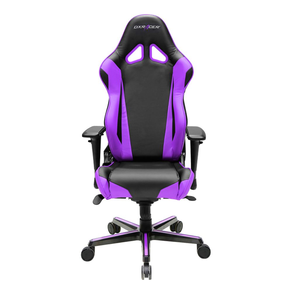 Dxracer Oh Rv001 Nv High Back Racing Style Office Chair Vinyl Pu Black Violet Gaming Chair Racing Chair Computer Chair