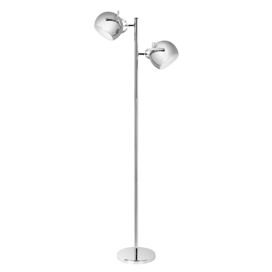 Globe Electric 61 In Chrome Multi Head Floor Lamp With Metal Shade With Images Chrome Floor