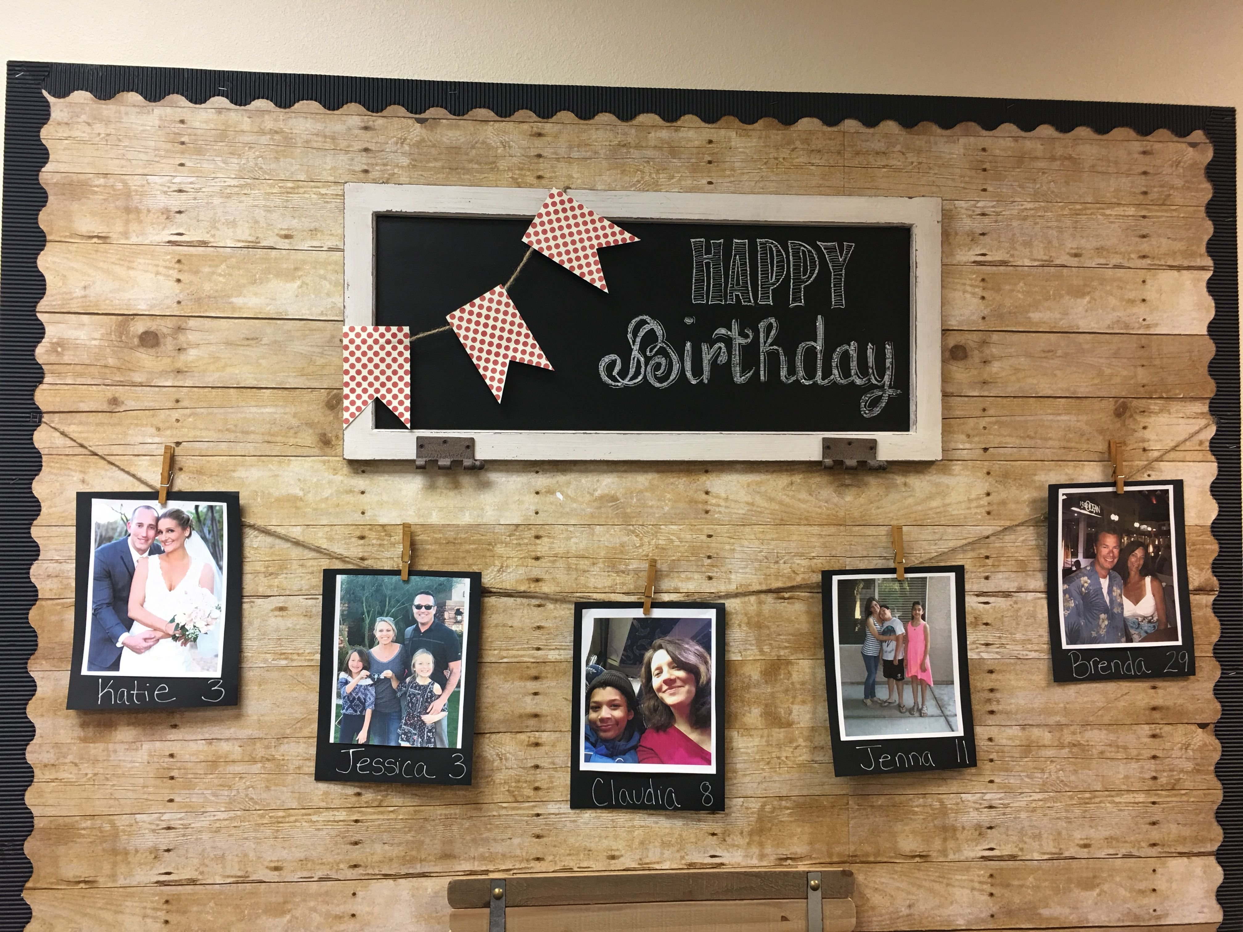 Boost Staff Moral By Creating A Special Staff Birthday Bulletin Board Www Kyrene Org Cer Staff Lounge Teachers Room Office Bulletin Boards Professional office bulletin board ideas