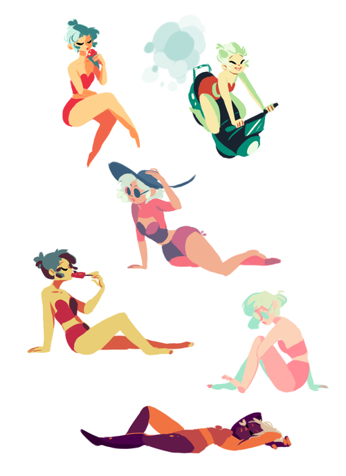 Character Design Color Palette : Quick color palette warmups of my character saturn