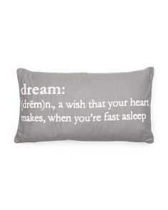 14x24 Dream Definition Pillow