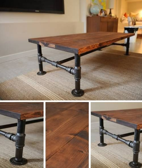 Diy Industrial Coffee Table Furniture Design