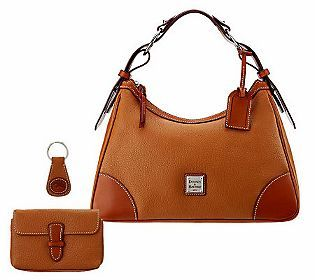 Dooney Bourke Leather Harrison Hobo W Accessories Qvc I Need