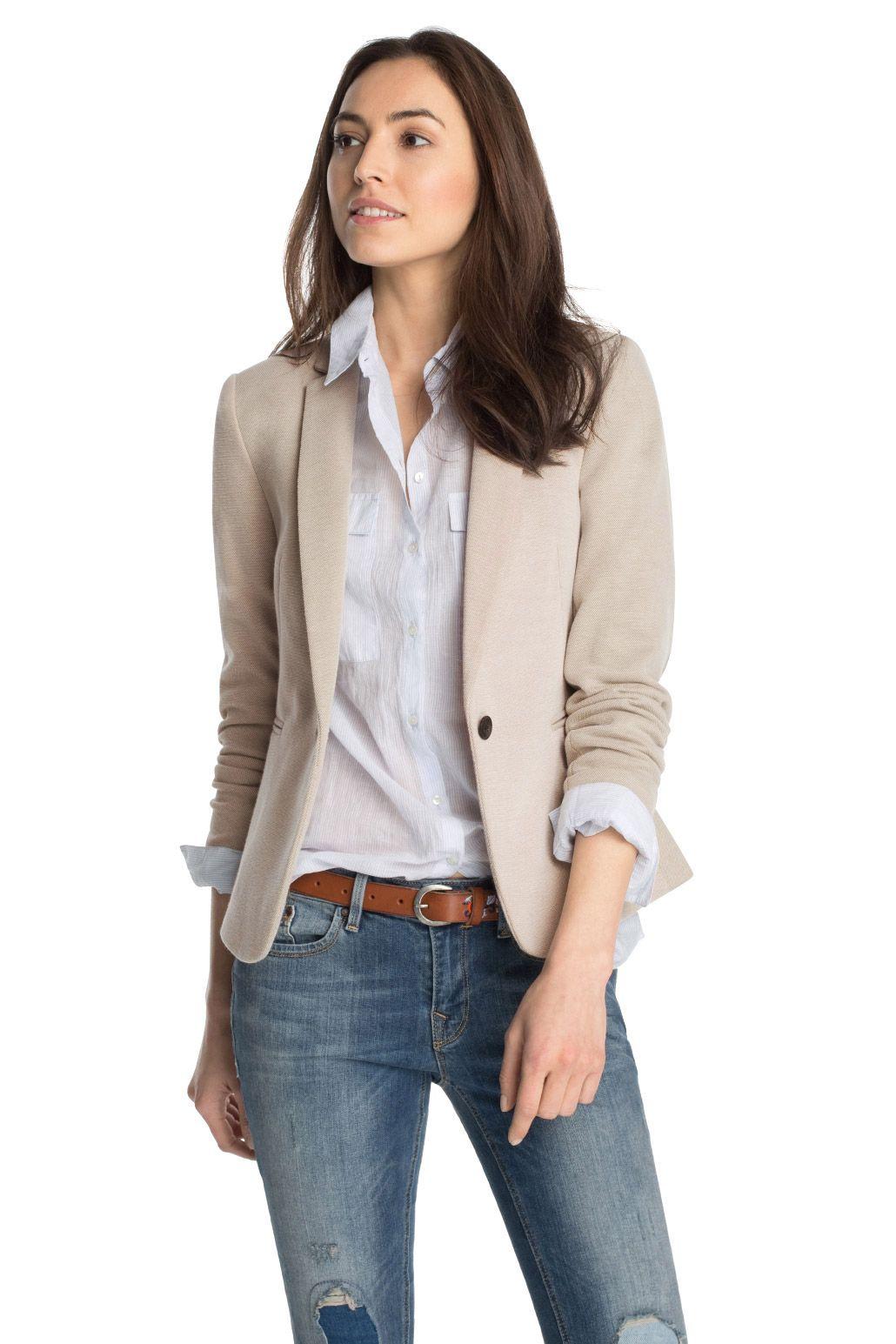 Esprit - Stretch Pique Jersey Blazer im Online Shop kaufen ... b75585c17c