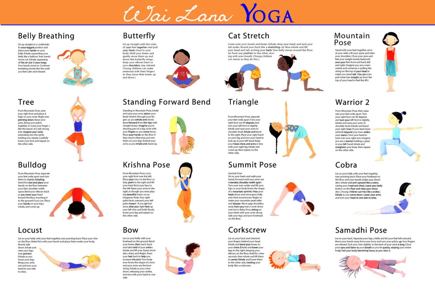 Yoga Poses And Names For Kids Wai Lana Kids Classroo...