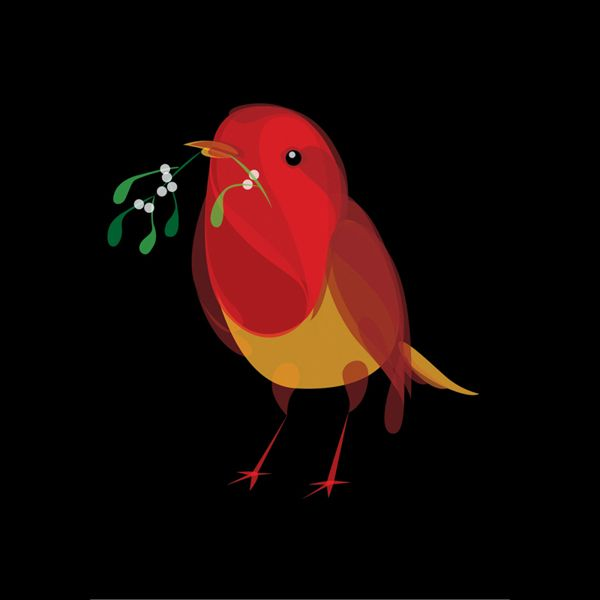 robins christmas cards by ben o brien via behance well