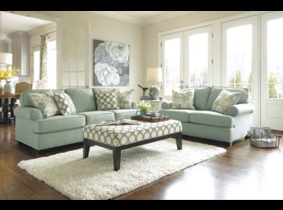 Aqua Couch And Loveseat