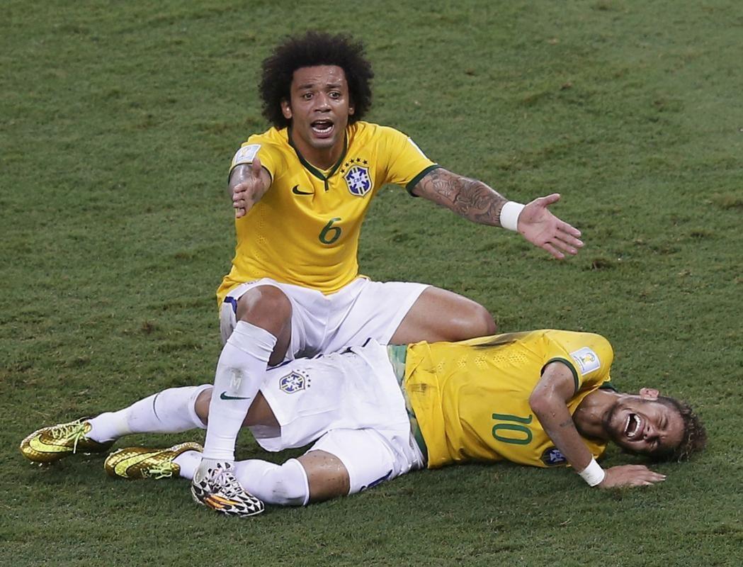 Neymar Injured Stretchered Off During Quarterfinal Neymar World Cup World Cup 2014
