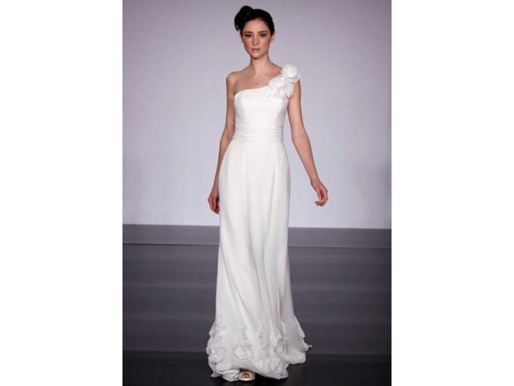 One strap wedding dress  Reverie by Melissa Sweet Mallorca NECKLINE Oneshoulder SILHOUETTE