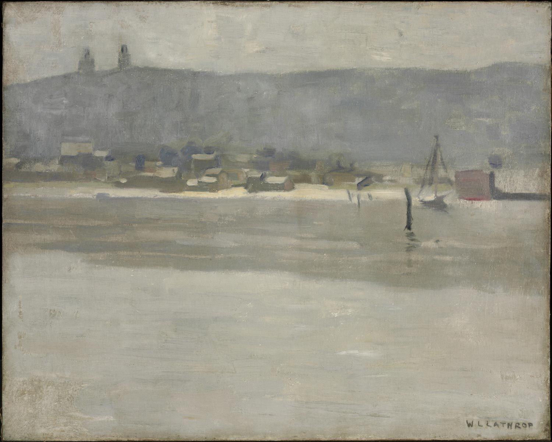 """Oyster Bay, Long Island,"" William Langson Lathrop, 1933, oil on canvas, 16 x 20"", Philadelphia Museum of Art."
