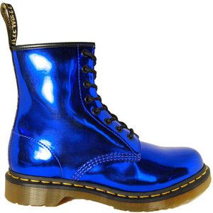 Metallic Blue Dr. Marten Boots for the blue and white fam