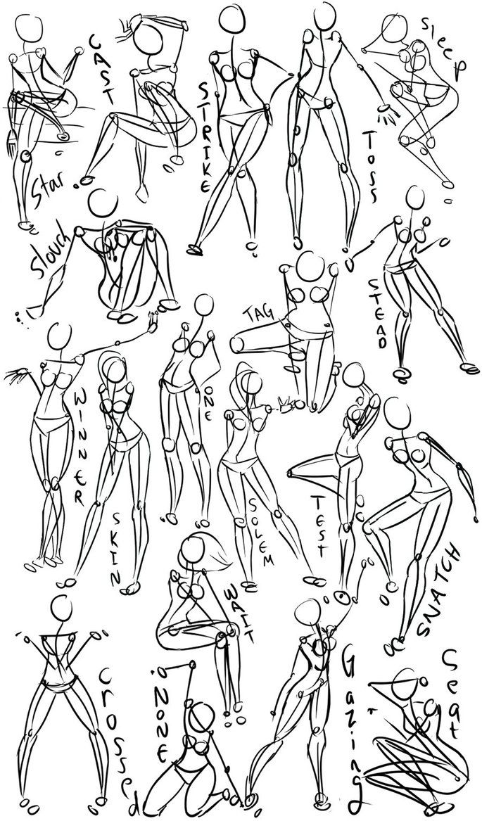 Female Poses draw