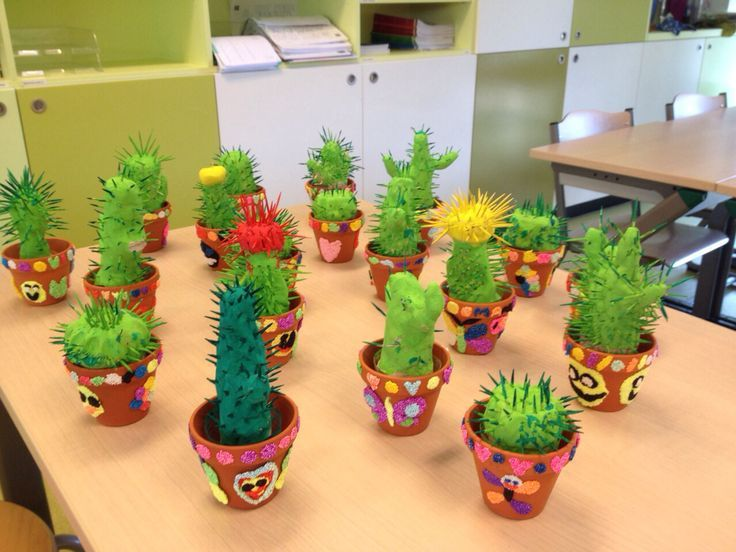 Cactus van klei