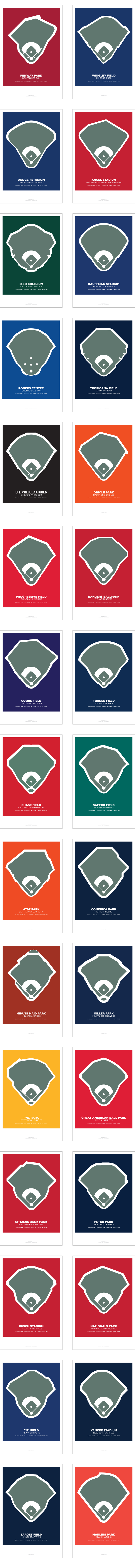 Photo of THIRTY81: The Fields of Baseball Poster Series.