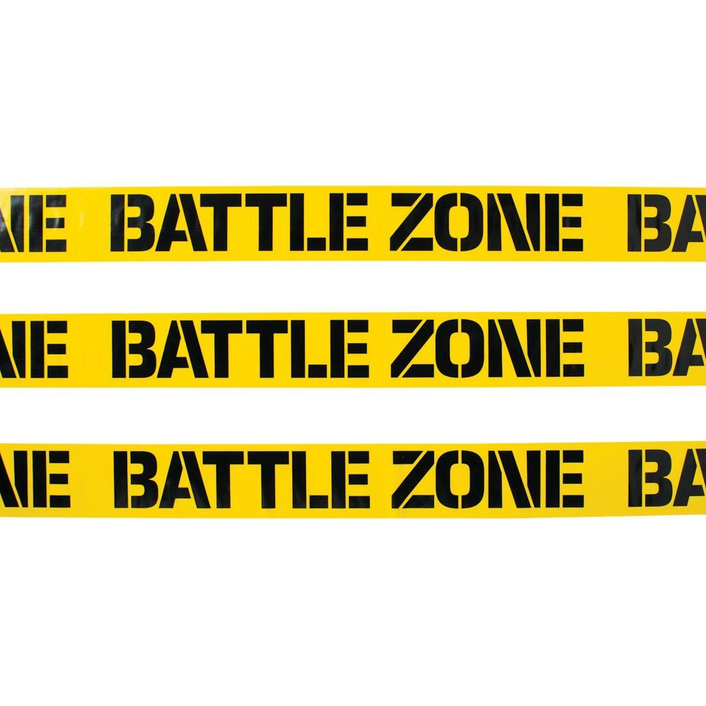Battle Zone Caution Tape Diy Photo Booth Backdrop Oriental