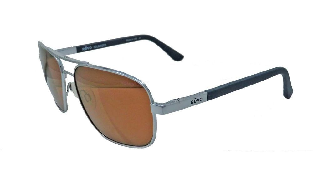 b1d4355af19 Freeman RE 1012 03 OR Polarized Rectangular Sunglasses Chrome Open Road 53  mm (eBay