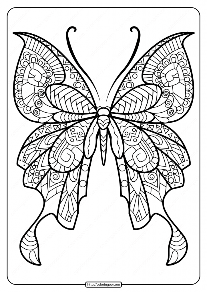 Printable Butterfly Mandala Pdf Coloring Pages 49 Butterfly Pictures To Color Butterfly Coloring Page Mandala Coloring Pages