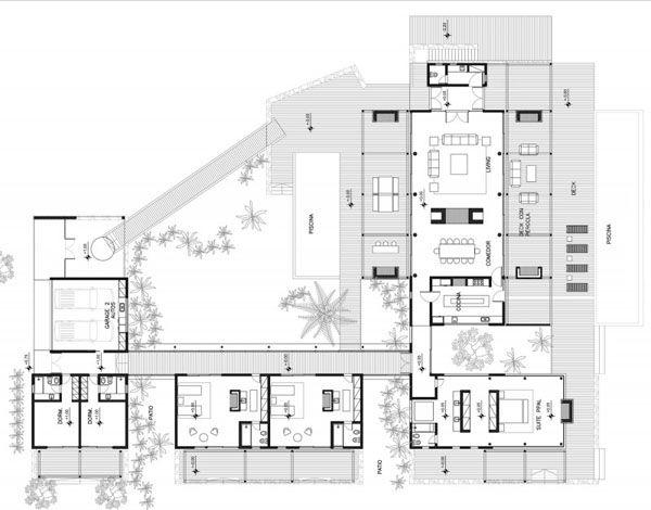 Modern House Design Plan Layout Pool House Plans Beach House Floor Plans Beach House Plans Modern beach house plan