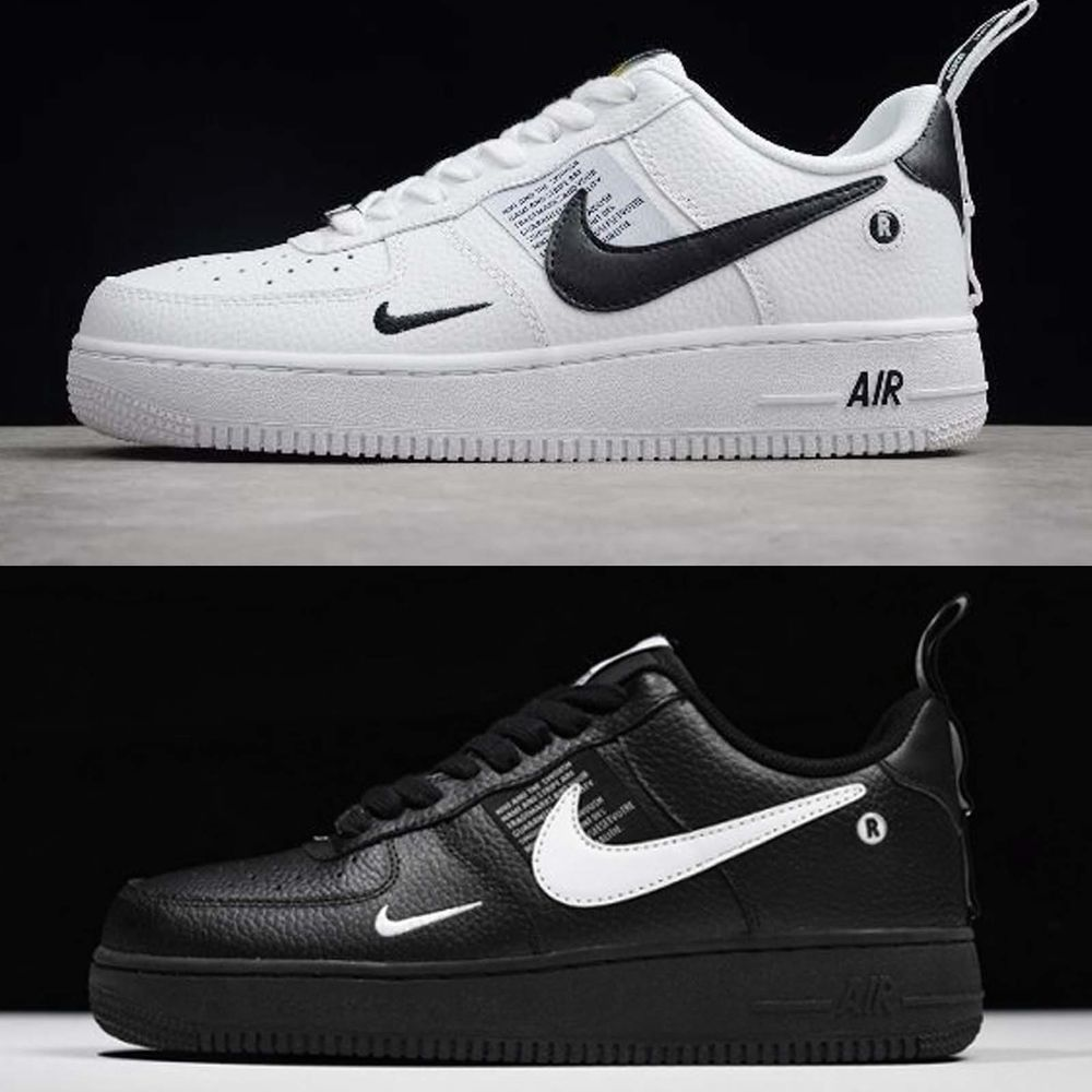 Nike Air Force 1 07 LV8 Utility Black White Mens Shoes AF1