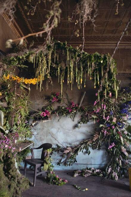 Das neue Leben der alten Ruine: 100 Tausend Blumen färben den Zement