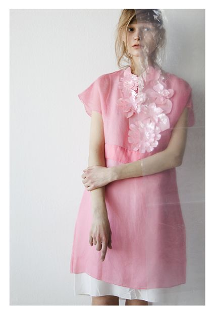 Anni Jürgenson—wearing a dress by Rue du Mail—photographed by Chris Vidal for SSAW (Spring/Summer 2013)