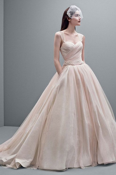 Blush color ball gown wedding dress from WHITE by Vera Wang Fall ...