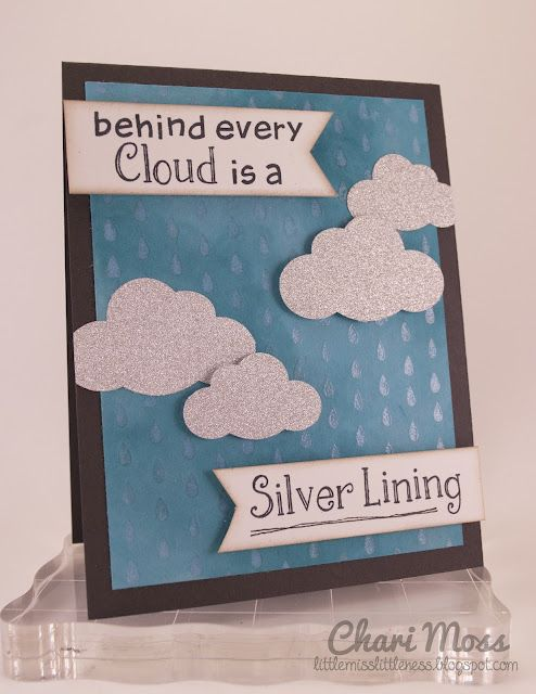 "05/15/12: Lawn Fawn ""Silver Lining"" cloud card from Chari  the Lawn Fawn blog"