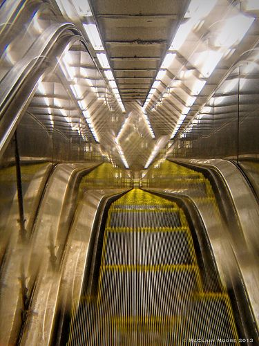 All sizes | Escalator Into Oblivion | Flickr - Photo Sharing!