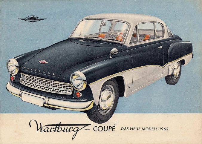 1962 Wartburg Coupe With Images East German Car Art Cars Car Ads