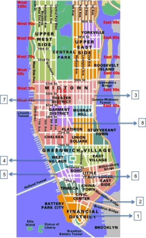 explore map of new york city and more