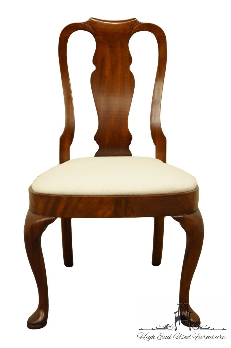 HICKORY CHAIR Solid Mahogany Queen Anne Style Dining Side Chair