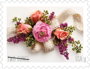 Garden Corsage Wedding Stamp Wedding Postage Stamps Forever Stamps
