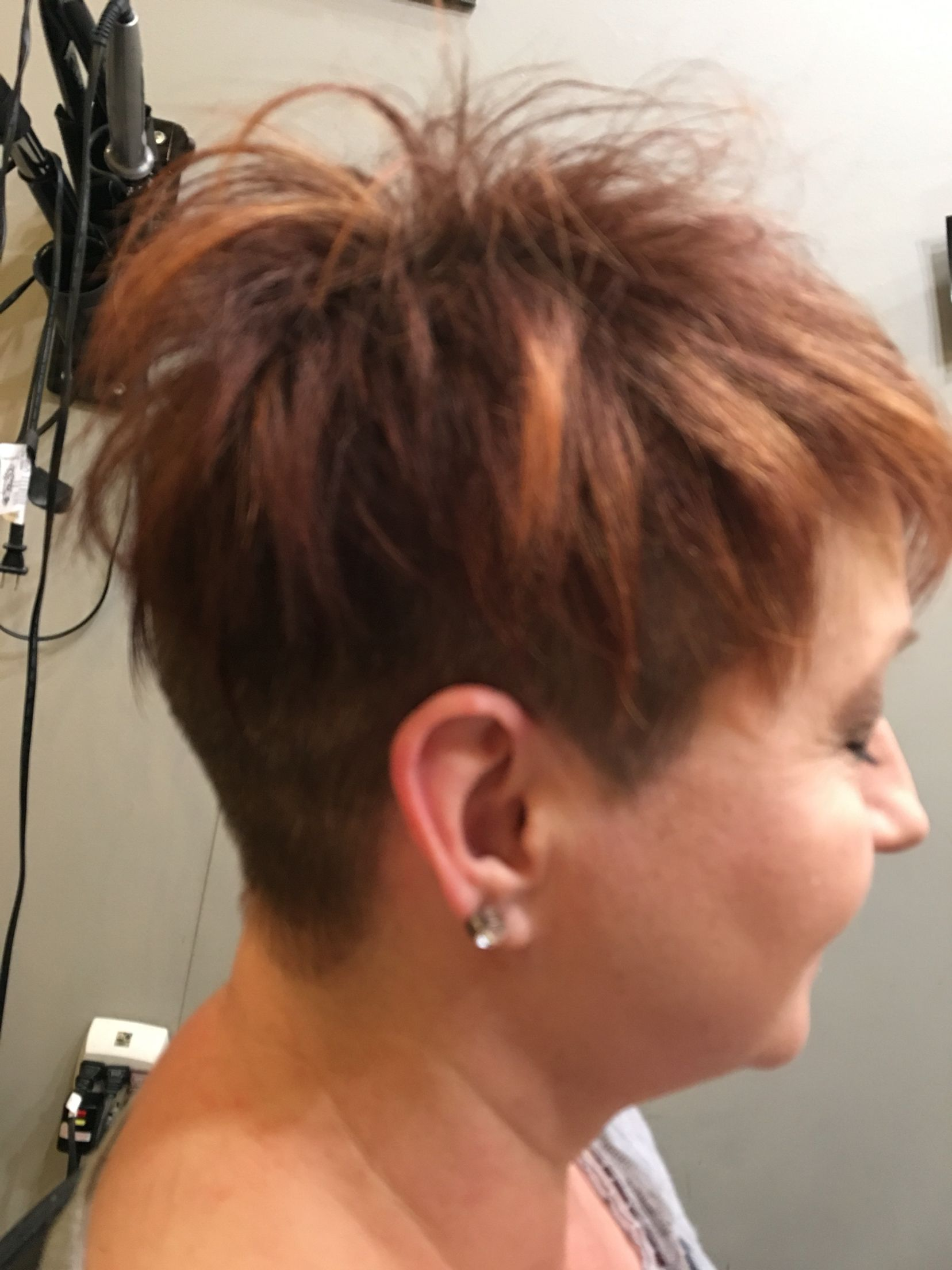 I Used A 2 Guard Clipper And Undercut Up To The Round Of The Head Then Heavily Textured And Shaped Top Short Hair Styles Easy Hair Treatment Cool Hairstyles
